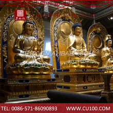 Custom best design hotselling antique copper buddha statues