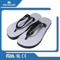 mecolour Cheap Sublimation blank flip flop/custom printed slipper