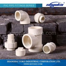 Factory manufacture various upvc pipe and fitting in china