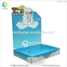 Counter top cardboard display pedestals for toy