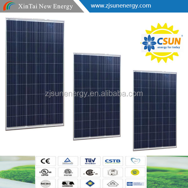 60 Cell famouse CSUN CSUN265-60P-SMART poly 250w solar panel WITH FULL CERTIFICATE