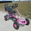 Happy kids 2 seat pedal go kart for kids F110AB