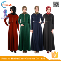 ZakiyyahF29 High Quality Muslim Women Long Dress With Hemp Online Shopping In India Clothing Moroccan Abaya Jilbab