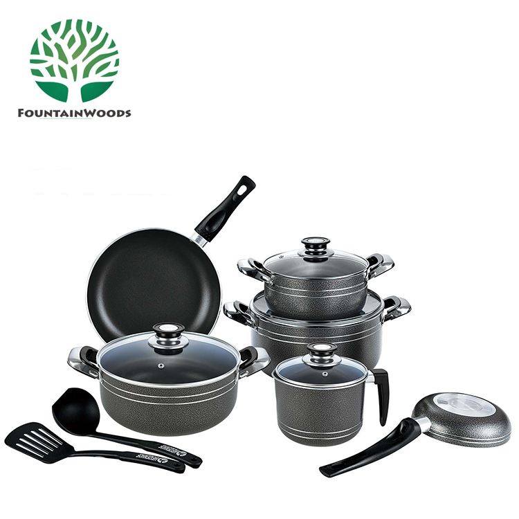 13Pcs Mayer House Aluminum Granite Stone Cookware Sets with Bakelite Handle