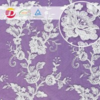 Factory high quality white cheap wedding african embroidery lace fabric