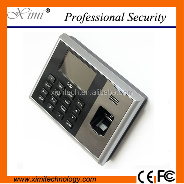Free software SDK fingerprint recognition time attendance system S30 employee time clock device support user validity settings