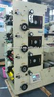 HJRY420 4 color automatic label flexo printing machine ruian printer factory price