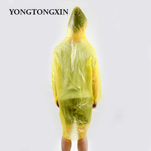 Good quality popular disposable LDPE clean durable yellow rubber raincoat