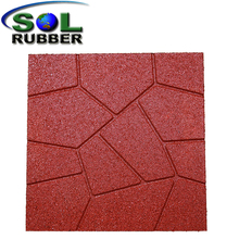 Residential Outdoor Patio Recycled Rubber Flooring Paver