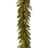 high quality wholesale decoration pvc LED light christmas garland with bulbs