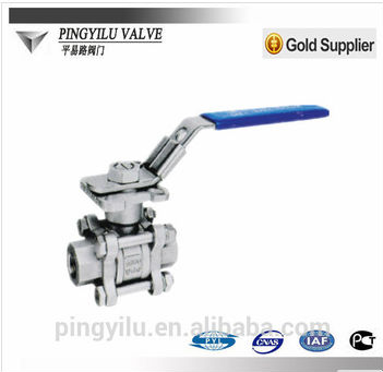 cast steel double threads ball valve /stop valve pipe fitting