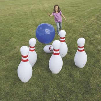 Gaint Customized Inflatable Bowling Pin For Zorb Ball Game