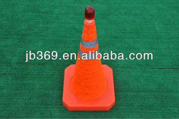 collapsible safety road cone with LED light
