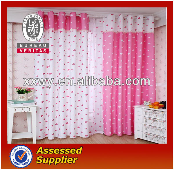 New environmental protection polyester curtain design for bedroom 2013