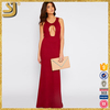 Long red maxi party night evening dress from designer clothing manufacturers in china