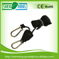 "Grow light accessories hydroponics 1/8"" rope ratchet"
