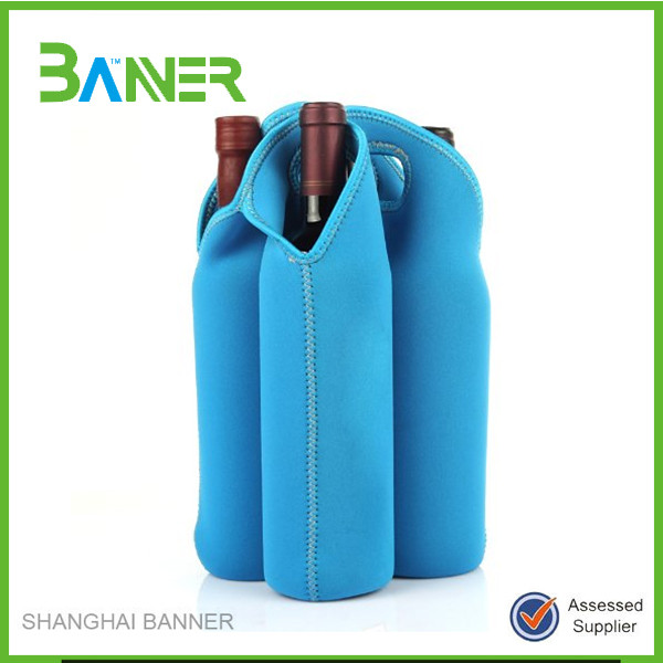 Promotion cheap neoprene insulated printing useful wine cooler bottle bag