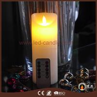RISING indoor custom colors hand made paraffin wax pillar led candles