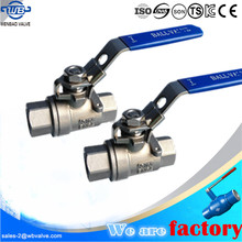 2pc stainless steel ball valve / 2pcs ball valve 1 inch
