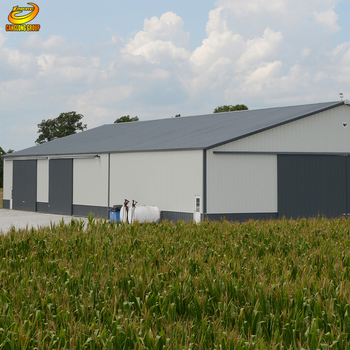 Prefabricated metal steel buildings kit industrial sheds