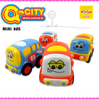 Friction cute bus mini baby top toy for kids
