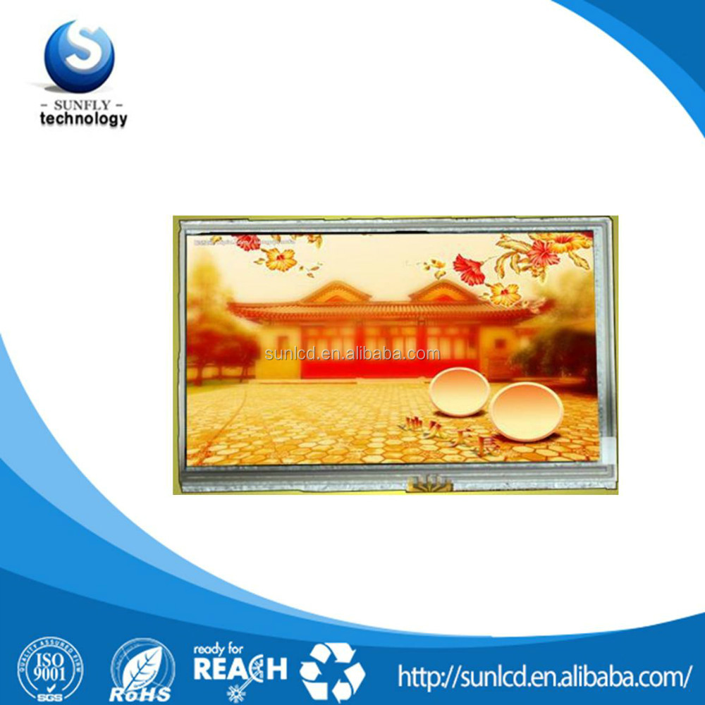 "lcd panel 7"" WVGA 800x480 with control board 7 inch lcd touch screen"