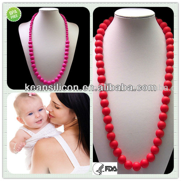 Classical Dress Necklace Teething Jewlry/Top Quality Fancy Color Necklace For Girls