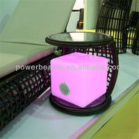 led bluetooth speaker lamp light cube chair music receiver