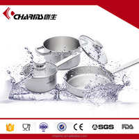 Elegant Colorful Thicken Bottom Stainless Steel Cookware