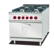 Stainless steel Commercial Cooking Equipment 4 Burner Gas Cooker with Electric Stove