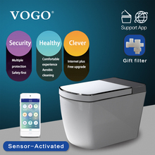 VOGO SL600 one piece intelligent smart toilet with warm seat cover