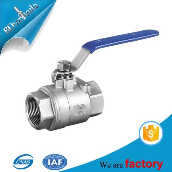 wafer type 3 inch Stainless steel ball valve made in china