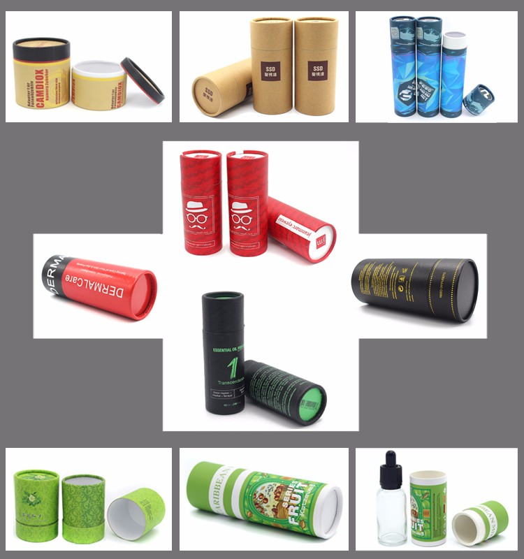 Colorful cardboard paper tube boxes printed cosmetic cardboard boxes