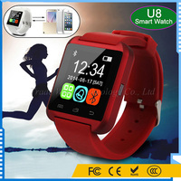 Smart IOS Android U8 Watch Phone 3G Wifi for Samsung for iPhone for HTC Red