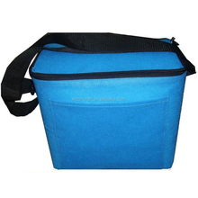 recyclable whole foods cooler bag/blue customized 6 pack cooler bag
