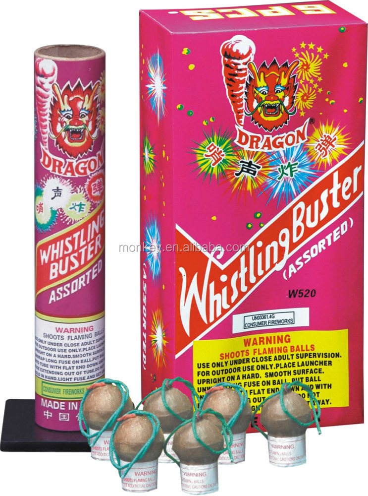 Small Artillery shell with whistling fireworks wholesale