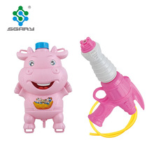 Wholesale summer plastic animal water gun with backpack,water cannon for sale