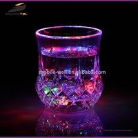 [Somostel] Customized Logo Printed Liquid Activated Plastic Light Up Flashing LED Shot Glass/Cup