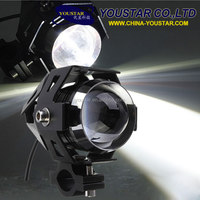 Motorcycle Led Headlight Waterproof High Power Spot Light/ Led Headlights Modification Lens Strong Light Black