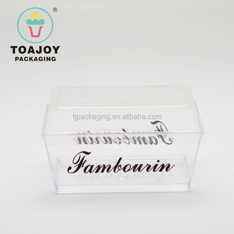 Customization PS disposable 150ml rectangle mousse plastic cups with lid