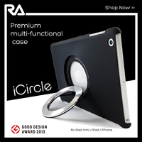 case with ring holder for ipad air easy holding for watching Rolling Ave.