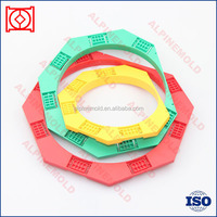 Custom plastic split ring/ plastic retaining ring of plastic injection mould