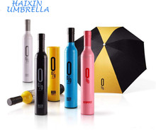 Customized Gift Craft Wholesale Promotional Advertising Printing Wine Bottle Umbrella with Logo