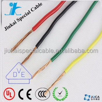 CE/VDE Approved H05V2-R bendable single core wire cable