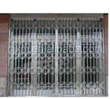 Good quality CheapOpening Metal Security Folding Grilles Steel Gate Door