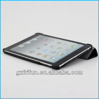 black 4 folding leather case for ipad mini case made in china