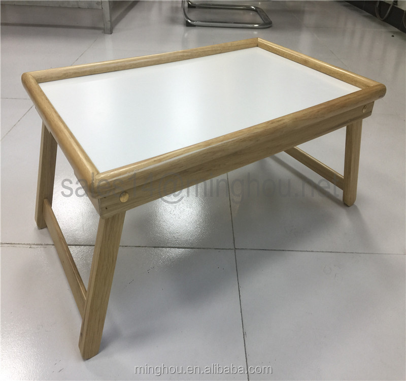 Wholesale Wooden Bed tray Breakfast Tray with Flip Top and Foldable Legs