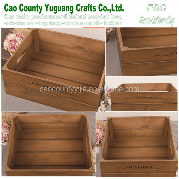 Wood orange crates 2015 new products vintage wood crate for Where do i find wooden crates
