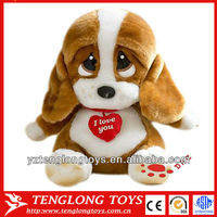 Best selling valentine gifts soft plush pug stuffed plush dog with big eyes
