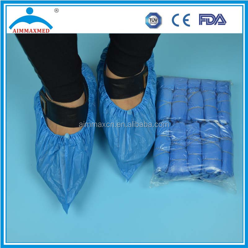 PP/PE/CPE disposable shoe cover in capsule, overshoes